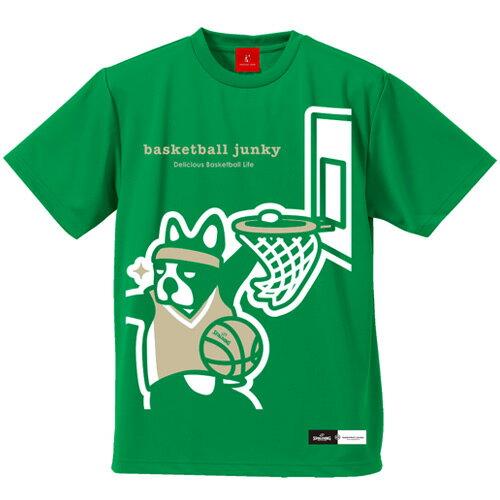 ジャンキー Junky basketball junky x SPALDING SLUM DUNK ドライ バスケットボール Tシャツ グリーン BSK18102 メンズ レディース