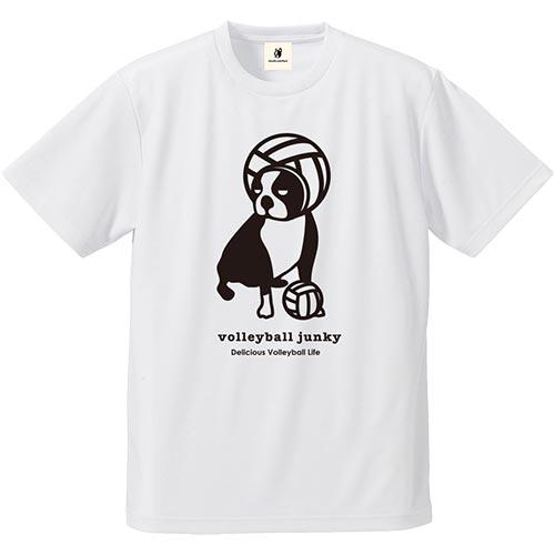 ジャンキー Junky バレーボールジャンキー ターバンレーボール犬 ドライT ホワイト VJ18002 メンズ レディース