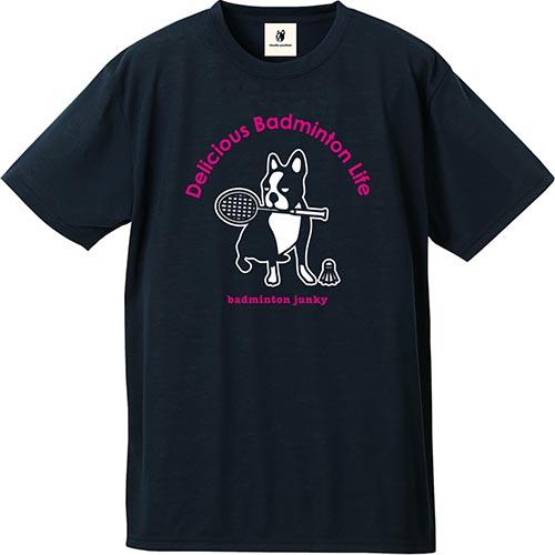 ジャンキー Junky バドミントンジャンキー バド犬+5 コットンライクドライT ネイビー BDJ18001 メンズ レディース