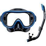 リーフツアラーREEFTOURERスノーケリング2点セットマスク+スノーケルブラックマンタブルーRC0202BKMB
