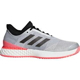 アディダス adidas メンズ テニス シューズ ウーバーソニック 3 マルチコート DBI19 F36722 シルバー/ブラック/レッド