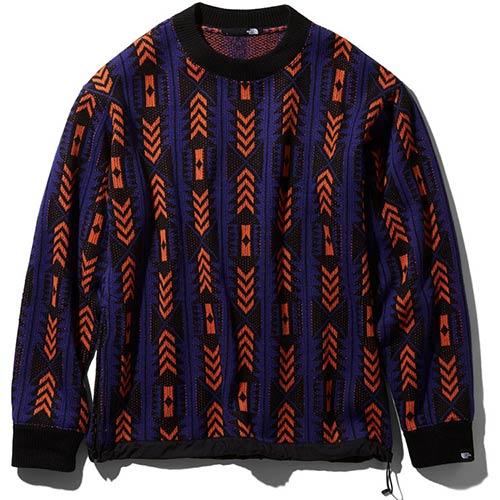 ノースフェイス THE NORTH FACE メンズ レディース レイジセーター RAGE Sweater アズテックブルー×ペルシャンオレンジ NT41961 AP ユニセックス