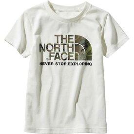 ノースフェイス THE NORTH FACE キッズ Tシャツ ショートスリーブカモロゴティー S/S Camo Logo Tee ホワイト NTJ31992 W 男の子 女の子