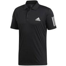 アディダス adidas メンズ テニス ポロシャツ TENNIS CLUB 3STR POLO ブラック/ホワイト FRW69 DU0848