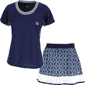 フィラ FILA レディース テニス ゲームシャツ & スコート 上下セット フィラネイビー VL1949 20/VL1951 20