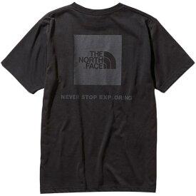 ノースフェイス THE NORTH FACE メンズ ショートスリーブスクエアロゴティー S/S Square Logo Tee ブラック NT31957 K