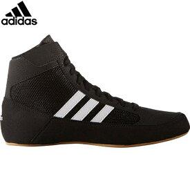 アディダス adidas キッズ レスリングシューズ hvck コアブラック/ランニングホワイト/アイロンメット KDO03 AQ3327 ジュニア 男の子