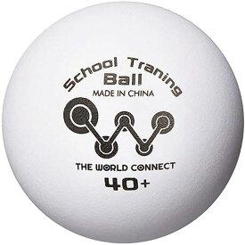 ザ ワールドコネクト THE WORLD CONNECT 卓球 ボール TWC スクール・トレーニングボール 40+ 100球入 DV010