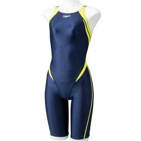 スピード speedo ジュニア 競泳水着 FLEXΣ フレックスシグマ ジュニアオープンバックニースキン FLEX S2 J OP KNEE BN×WL SCG11909F BW 女の子
