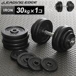 リーディングエッジLEADINGEDGEアイアンダンベル30kg単品LE-IDB30
