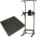 リーディングエッジホームジムST保護マットセット懸垂器具腹筋腕立て運動可能ぶら下がり健康器マルチジムLE-VKR02