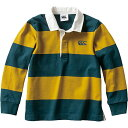 canterbury カンタベリー キッズ ラグビー ロングスリーブ ラグビー ジャージ L/S RUGBY JERSEY フォレストグリーン R…