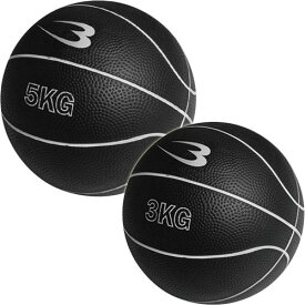 BODYMAKER ボディメーカー メディシンボール 2個セット 5kg&3kg ブラック MBG25/MBG23