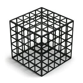 杉山製作所 Grid Box L(Black)(cc-bk)【グリッドボックス アイアン ブラック オブジェ Fe 柴田文江】