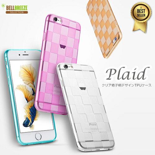 【在庫処分特価】iPhone6s ケース iPhone6 ケース 【 Plaid クリアケース】 iPhone6 iPhone6s Plusケース iPhone6sPlus iPhone6Plus アイフォン6s アイフォン6 アイフォン6プラス チェック柄 チェック 防塵キャップ 透明