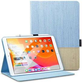 \二つ折りスタンドケース/【2019 iPad7】ESR iPad 10.2 ケース 第7世代 2019モデル専用 レザー 手帳型[オートスリープ/ウェイク][ペンシルホルダー付き][ブックカバーデザイン][角度調節可能な鑑賞スタンド]iPad 10.2インチ2019専用カバー