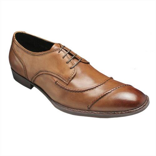 【ABBEY ROAD(アビーロード)】ヨーロピアンデザインの牛革ロングノーズ(レース)・AB1138(ブラウン)/メンズ 靴