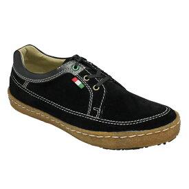 【BENETTON(ベネトン)】カラフルなカラーリングのベロア・カジュアルシューズ・BN5013(ブラック)/メンズ 靴