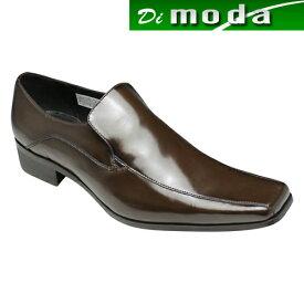 【KATHARINE HAMNETT (キャサリン ハムネット)】人気デザインが再登場・スクウェアトゥのロングノーズ・スリッポン(スワールモカ)・KH3946(ダークブラウン)/メンズ 靴