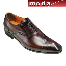 アントニオ ドゥカティ ビジネスシューズ 片流れスワールモカ ポインテッドトゥ DC1191 ダークブラウン ANTONIO DUCATI メンズ 靴