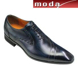 アントニオ ドゥカティ ビジネスシューズ 片流れスワールモカ ポインテッドトゥ DC1191 ネイビー ANTONIO DUCATI メンズ 靴