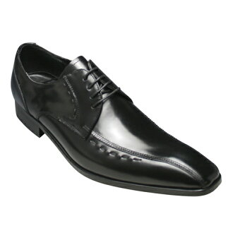 [ANTONIO DUCATI ] long nose business shoes swirl Mocha (outside feather) DC8410( black)of the real leather bottom