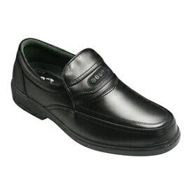 【GOLF(ゴルフ)】4Eの幅広・軽量・撥水加工!牛革ビジネス&カジュアルシューズ(スリッポン)・GF5001(ブラック)/メンズ 靴