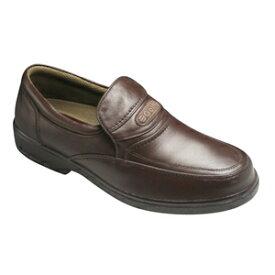 【GOLF(ゴルフ)】4Eの幅広・軽量・撥水加工!牛革ビジネス&カジュアルシューズ(スリッポン)・GF5001(ダークブラウン)/メンズ 靴