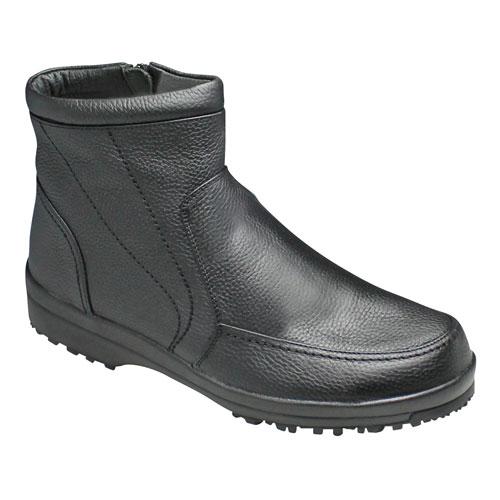 【City Golf(シティー ゴルフ】4Eの幅広・全天候型の履き心地の良い牛革ショートブーツ・SPGF567(ブラック)/メンズ 靴