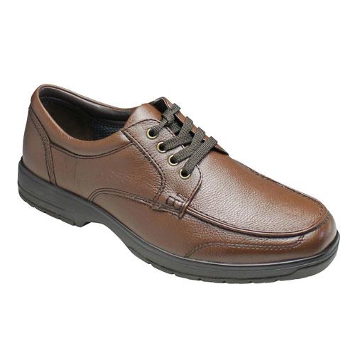 【City Golf(シティ ゴルフ)】撥水加工の軽量ウォーキングビジネスシューズ(Uチップ)4E巾広・SPGF909(ダークブラウン)/メンズ 靴