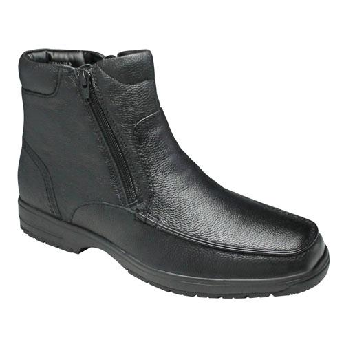 【City Golf(シティー ゴルフ】4Eの幅広・全天候型で履き心地の良い撥水加工の牛革ショートブーツ(サイドジップ)・SPGF911(ブラック)/メンズ 靴