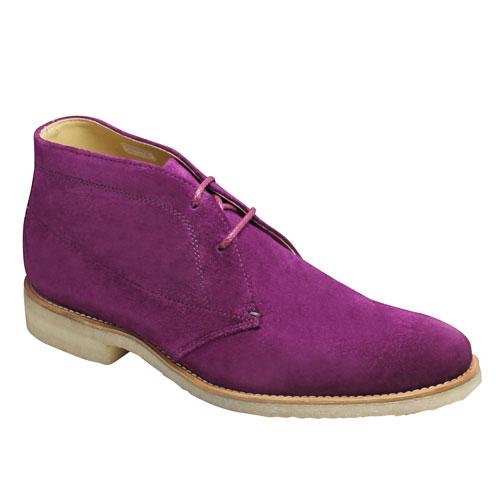 【REGAL(リーガル)】クラッシックな英国スタイルの牛革スエードチャッカーブーツ・51GR(パープルスエード)/メンズ 靴