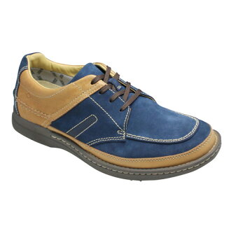 Weatherproof GORE-TEX adoption-4E wide walking shoes (U tip), 202 W (Navy suede)