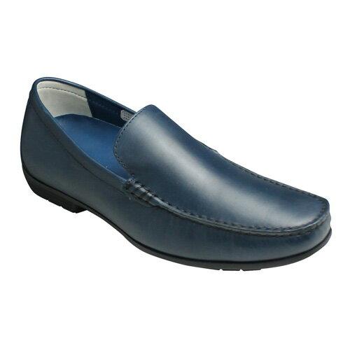 【REGAL(リーガル)】ドライビングとしても活躍する牛革ビジカジスリッポン(ヴァンプ)・56HR(ネイビー)/メンズ 靴
