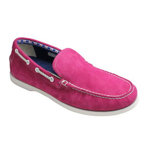 【REGAL STANDERDS(リーガル スタンダーズ)】素足に心地良いツマミモカシンのスエードスリッポン・60HR(ピンクスエード)/メンズ 靴