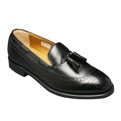 【REGAL (リーガル)】本格派トラッド!幅広3Eの定番ビジネスシューズ(ウイングタッセル)・JE03(ブラック)/メンズ 靴