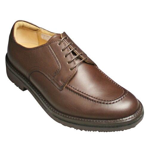 【REGAL WALKER(リーガルウォーカー)】3E(幅広)撥水加工・牛革タウンウォーキングシューズ(Uチップ)・102w (ダークブラウン)/メンズ 靴