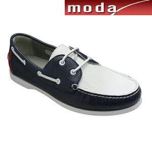 リーガル デッキシューズ つまみモカシン ラウンドトゥ 55TR ホワイトトリコ REGAL メンズ 靴