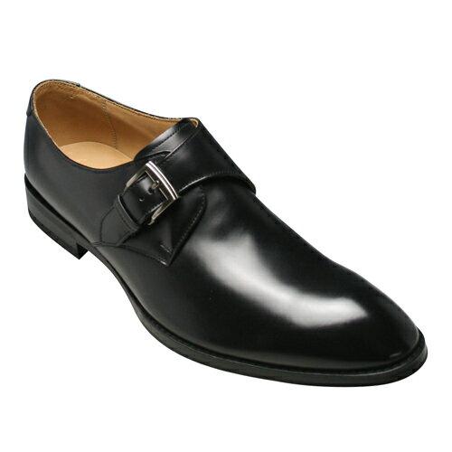 【REGAL(リーガル)】カーフのビジネスシューズ(サイドモンク)813R(ブラック)/メンズ 靴