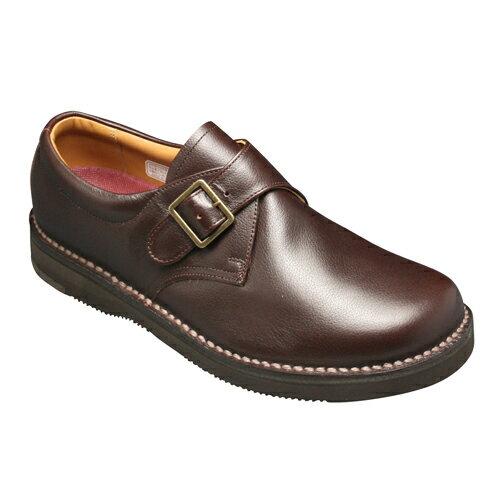 【REGAL WALKER (リーガル ウォーカー )】快適歩行の機能満載!3E幅広のビジネスウォーキングシューズ・JJ25(モンクストラップ)・ダークブラウン/メンズ 靴