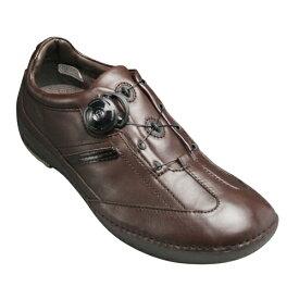 【REGAL WALKER(リーガル ウォーカー)】BOAレーシングシステム搭載のレザースニーカー(3E)・150W(ダークブラウン)/メンズ 靴