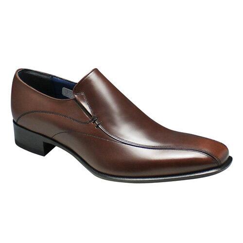 【REGAL(リーガル)】ロングノーズの脚長ドレスシューズ(ヴァンプ)・26FR(ダークブラウン)/メンズ 靴