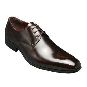 【SARABANDE(サラバンド)】ヨーロピアントラディショナルの牛革ビジネスシューズ(プレーントゥ)・SB7760(ダークブラウン)/メンズ 靴
