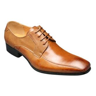 [SARABANDE (sarabande)] European elegance drifting cowhide long nose business shoes (swirl Mocha), SB7771 (light brown) [easy ギフ _ packing]