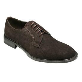【SARABANDE(サラバンド)】牛革スエード素材のビジネスシューズ(プレーントゥ)・SB8601(ブラウンスエード)/メンズ 靴