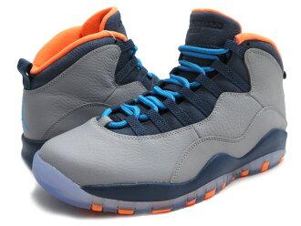 check out 0d6ce fb6a1 NIKE (Nike) AIR JORDAN 10 RETRO 310805-026 WOLF GREY DARK POWDER BLUE-NEW  SLATE-ATOMIC ORANGE (Jordan) (sneakers) (shoes) 803-000190-302