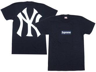 SUPREME (shupurimu) x x New York Yankees (New York Yankees) ' 47 Brand (forty seven brand) 200-006559-037 NAVY Box Logo Tee (t-shirts)