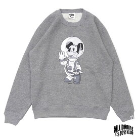 BILLIONAIRE BOYS CLUB MICKEY MOUSE ASTRONAUT CREW 【クルースウェット】 GREY 917000088042