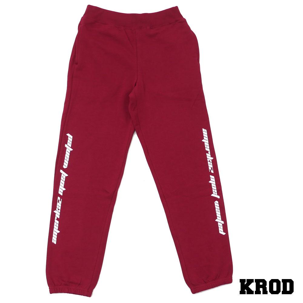 クラウド KROD AMW SWEAT PANT 【スウェットパンツ】 BURGUNDY 999005195039