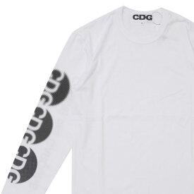 CDG シーディージー DOT CDG L/S TEE 長袖Tシャツ WHITE 202000968030+【新品】 COMME des GARCONS コムデギャルソン